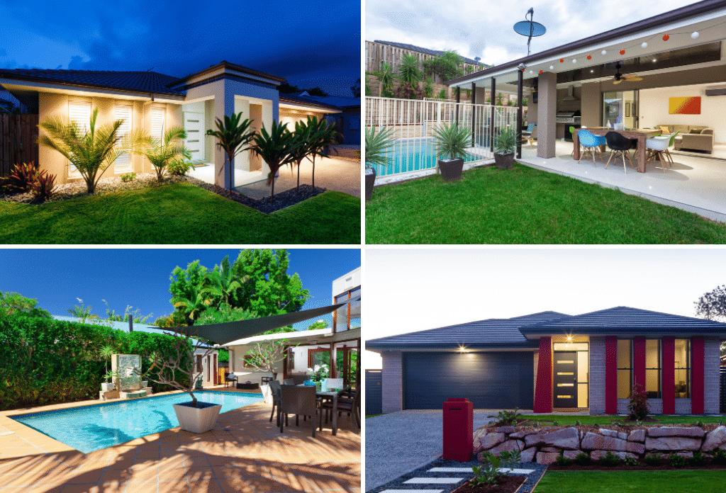 finished homes with landscape design completed