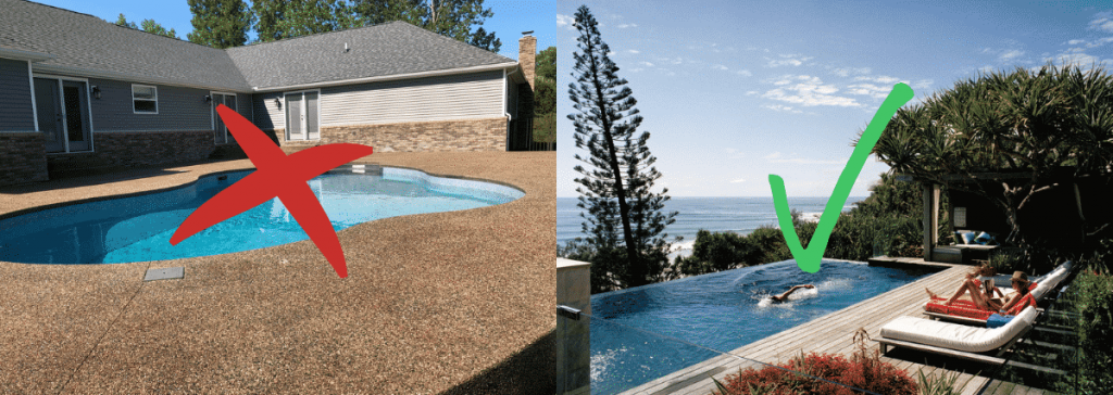 Good and bad pool design examples