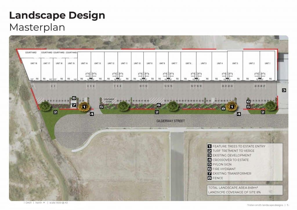 proposed landscape plan